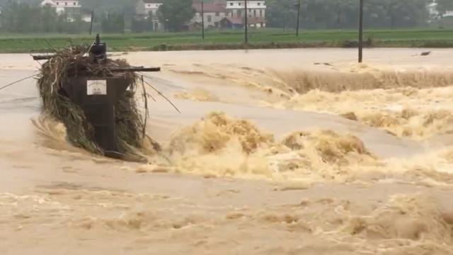 暴雨再袭湖南:河水猛涨,淹没农田