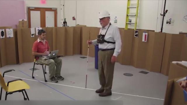 一条腰带能让视障人士摆脱导盲棍?