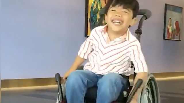 经历22次脑部手术,5岁男孩上学了