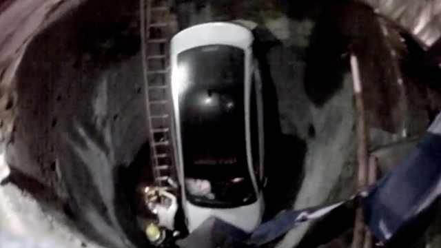 他深夜醉驾掉6米深坑,找人顶包露馅