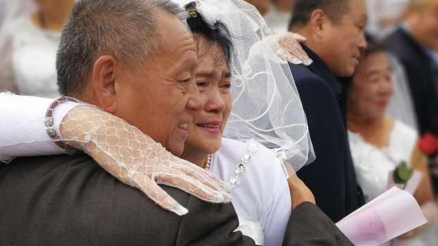 300对老人办婚礼,多数从未穿过婚纱