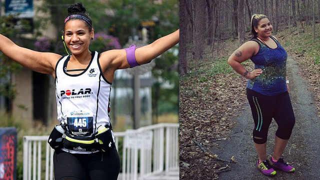 她靠跑步减了136斤,还成了健身小姐