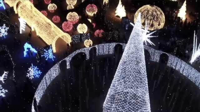 全球最大圣誕燈展開幕,美如童話!