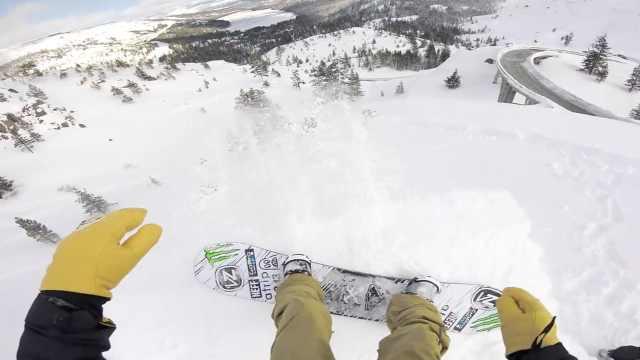 紧张刺激!GoPro第一视角带你滑雪