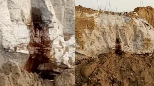 河北发现一明代古墓,流出红色液体