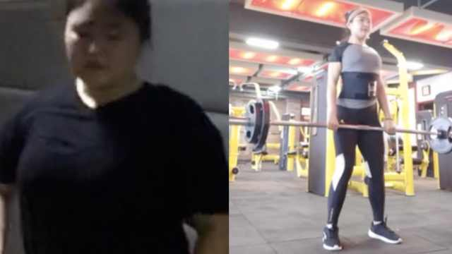 瘦成女神!226斤女生一年减重100斤