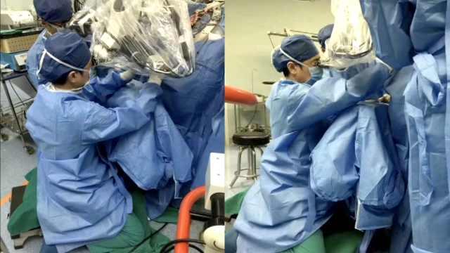 妙手仁心!医生为患者跪地手术3小时
