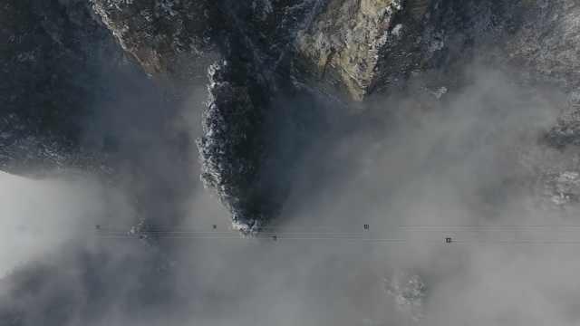 武陵源雪后初晴,霧凇云海一次看夠