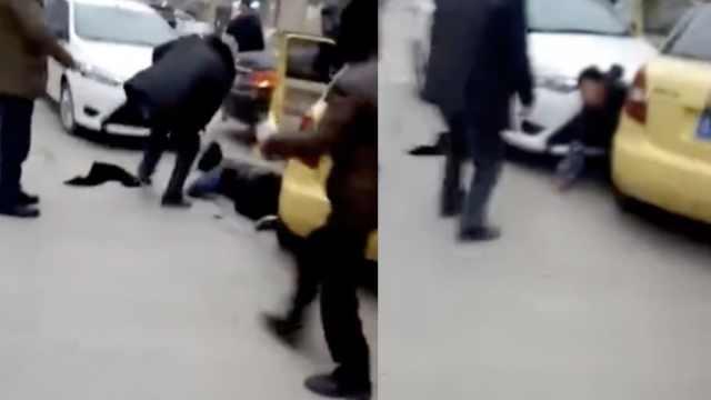 疑因邻里纠纷,3村民驾车猛撞女子