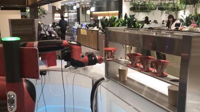 厉害了!日本首家机器人咖啡厅开业