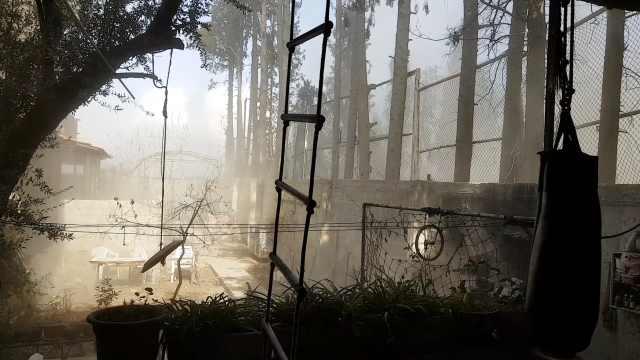 空袭现场!实拍叙利亚居民住所被炸