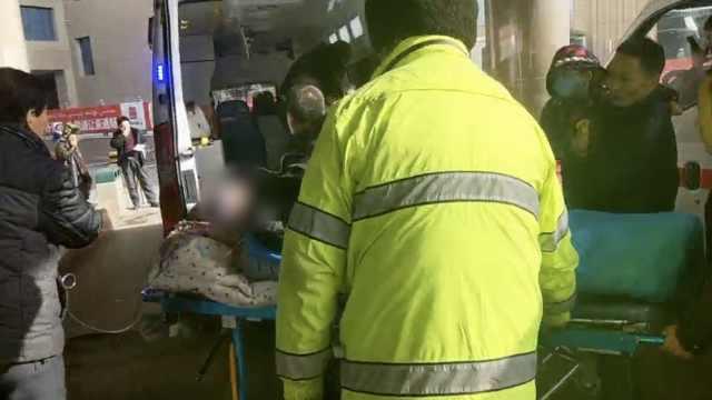 开颅术后患者转院,交警开道送医