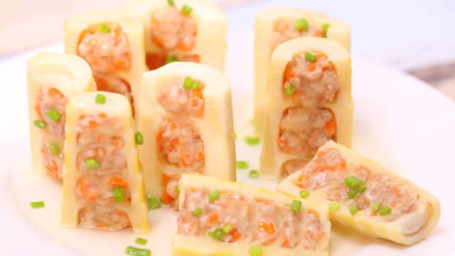 做一盘时令刮油菜:春笋酿肉