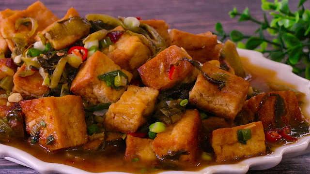 酸菜豆腐,这样做比肉还好吃