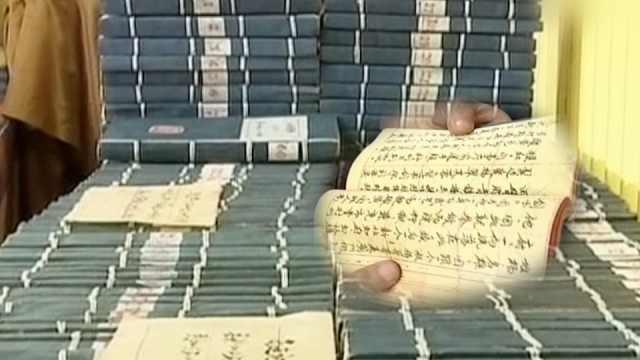 老人毛笔抄写四大名著:8年300万字