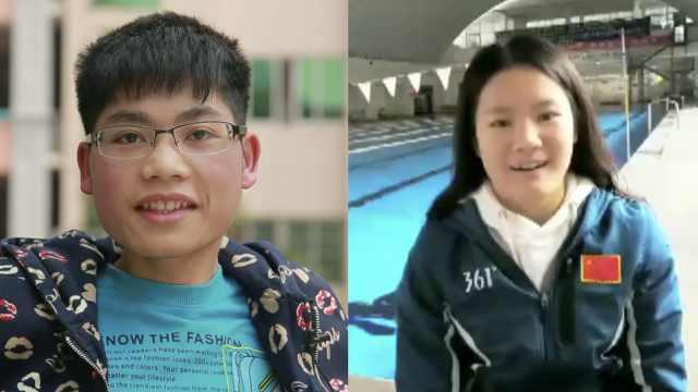 母背他上学,残奥冠军相赠电动轮椅
