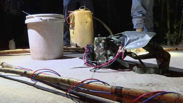 他们电打产卵春鱼,工具塞满后备箱