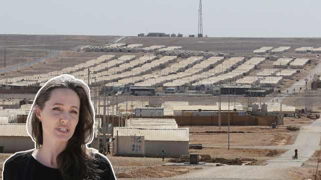 沙漠中的叙利亚难民营,朱莉曾来过