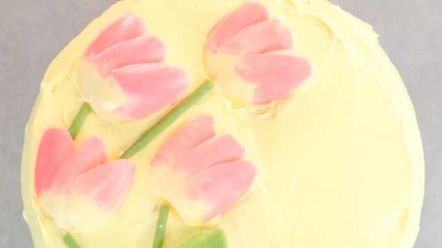 让蛋糕变成花园!郁金香巧克力蛋糕