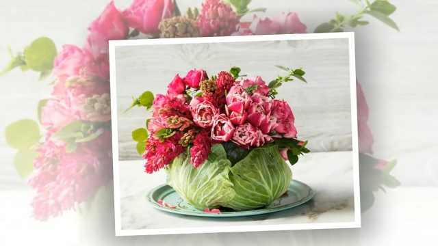 鲜花与蔬菜的邂逅,摆放出新花样
