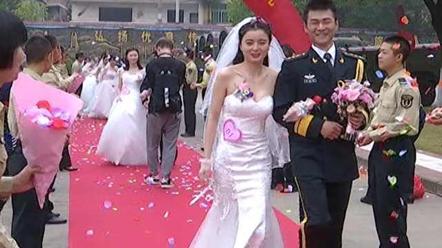 军营举办集体婚礼:别样的体验