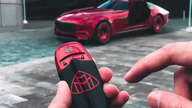 迈巴赫概念车6的酷炫概念钥匙