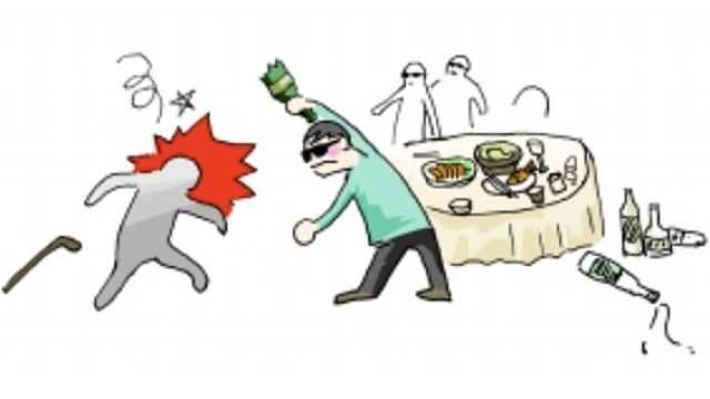 拒喝邻桌男子敬酒,母女餐馆遭暴打