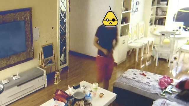 男子爬窗入室盗窃,被监控拍个正着