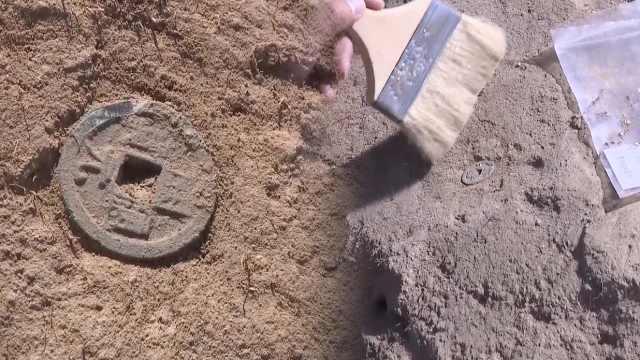 新疆北庭故城考古,发现唐开元通宝