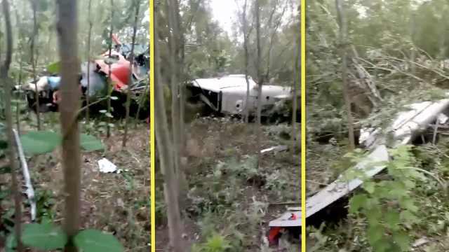安徽一直升机坠落1人亡,疑碰高压线