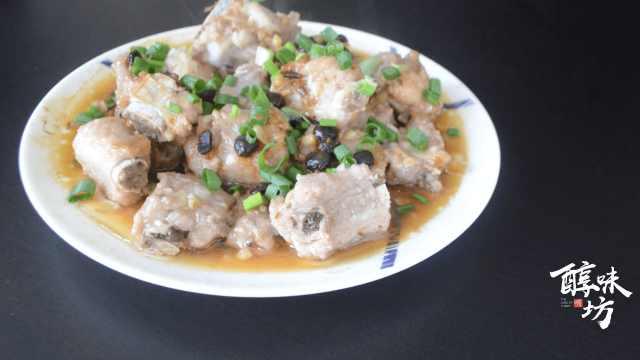 豆豉蒸排骨,最受欢迎的茶点之一