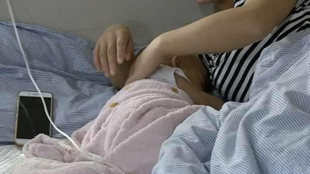 1岁宝宝测肛温,将体温计坐断在直肠