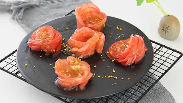 玫瑰花西红柿,美观大方又清爽解暑