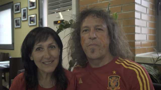 西葡球迷一同观赛:就像世界杯决赛