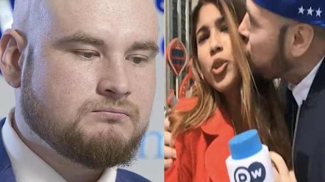 强吻女记者引众怒,俄罗斯球迷道歉