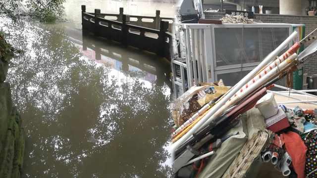 洪峰过境网红磁器口,川剧馆惨被淹