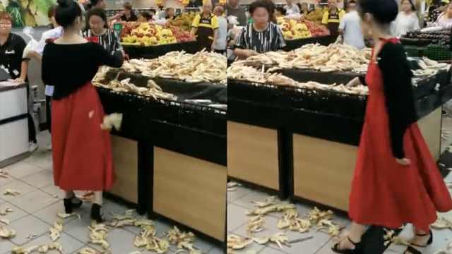 女子疑因掰生姜被制止,在超市撒泼