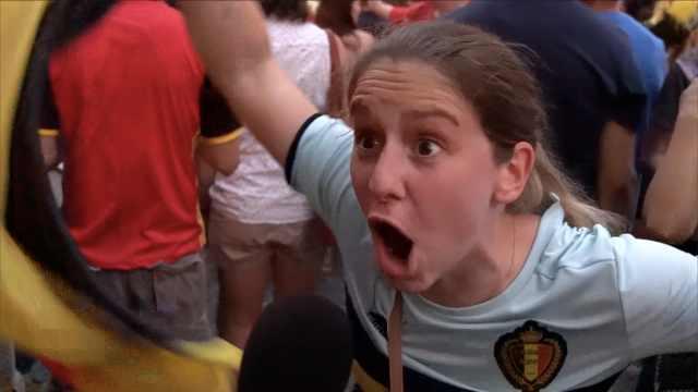 比利时球迷嗨爆!结果根本没看比赛