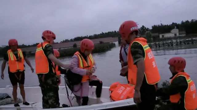 沱江泄洪水淹资阳,消防连夜急救援