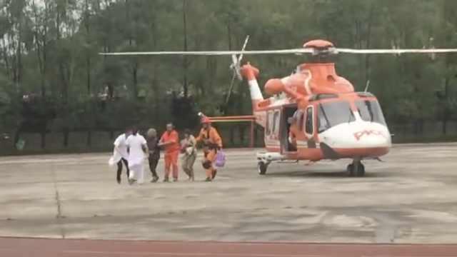 桥被撞断,直升机孤岛救出心脏病人