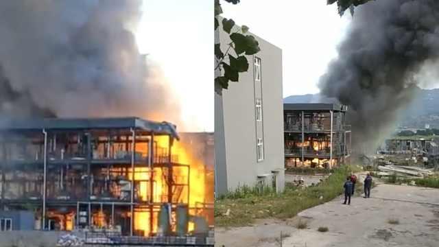 四川江安一企业突发爆燃,多人受伤