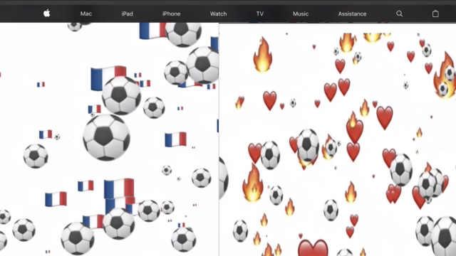 苹果庆祝世界杯更改法克官网主页