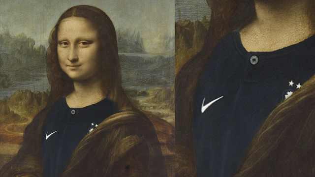 卢浮宫:蒙娜丽莎穿了夺冠两星球衣