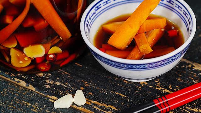 日式渍物萝卜,酸甜爽脆解腻开胃!