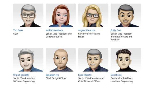 苹果发布新表情,连高管头像都换了