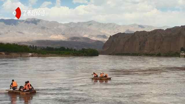 坐上羊皮筏,和黄河第一次亲密接触