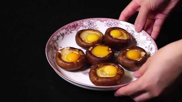 香菇酿蛋的家常做法,营养美味