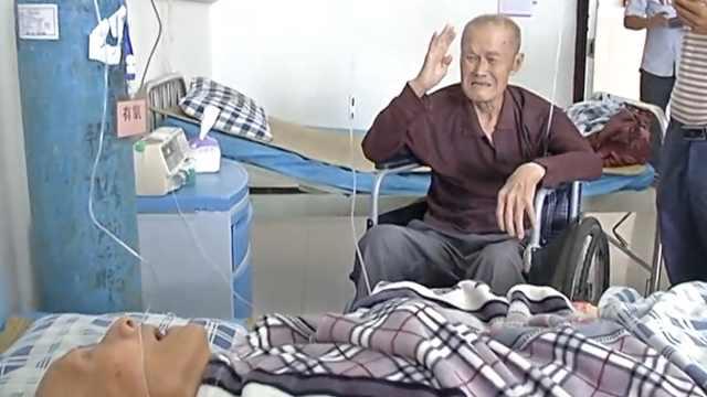 老兵阔别62年病床前重逢,含泪敬礼