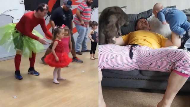 家有老爸是超人,十八般武艺带娃