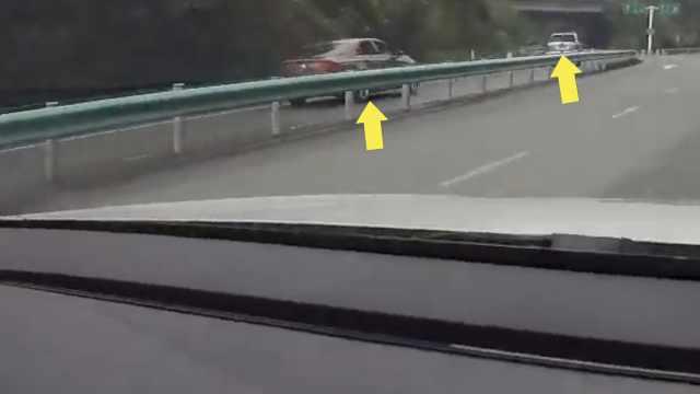 导航背锅!2车高速逆行,民警追叫停